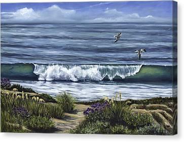 A Malibu Melody Canvas Print by Lisa Reinhardt