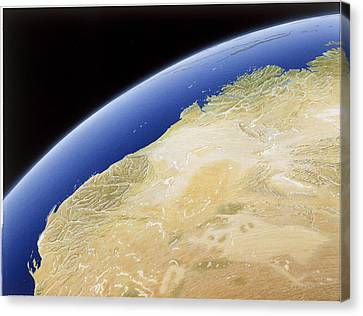 A Map Of Western Australia Canvas Print by NG Maps