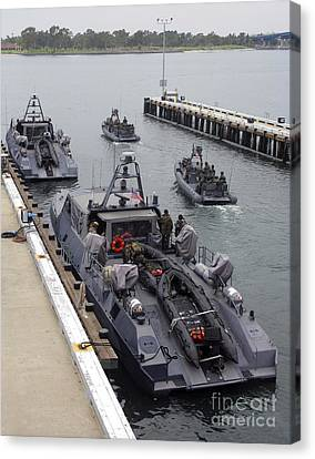 A Mk-v Special Operations Craft Tied Canvas Print by Michael Wood