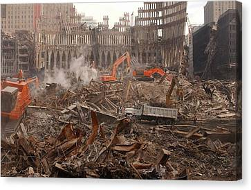 A Month After The Terrorist Attacks Canvas Print by Everett
