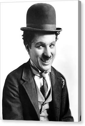 A Night Out, Charlie Chaplin, Aka Canvas Print by Everett