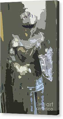 A Nightly Knight Canvas Print by Karen Francis