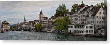 A Panorama View Of Zurich Canvas Print by Greg Dale