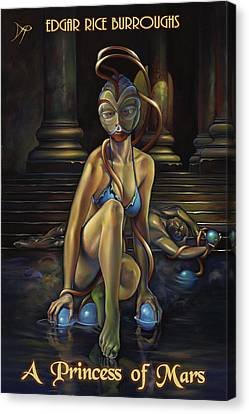 A Princess Of Mars Canvas Print by Patrick Anthony Pierson
