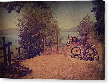 A Ride Down To The Lake Canvas Print by Laurie Search