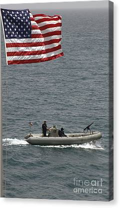 A Rigid Hull Inflatable Boat Canvas Print by Stocktrek Images