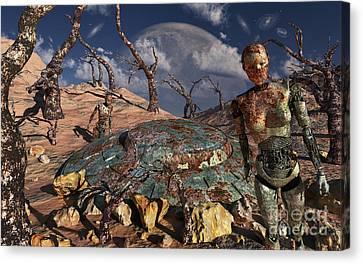 A Robotic Exploration Team Canvas Print by Mark Stevenson