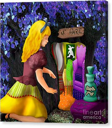 A Room In Wonderland  Canvas Print by Lois Mountz
