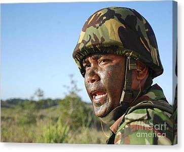 A Royal Brunei Land Force Soldier Canvas Print by Stocktrek Images