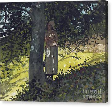 A Shady Spot Canvas Print by Winslow Homer