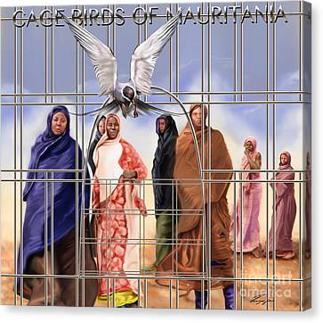 A Song For The Caged Birds Of Mauritania Canvas Print by Reggie Duffie
