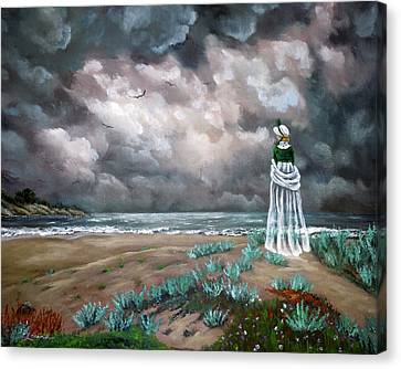 A Stroll Upon The Dunes Canvas Print by Laura Iverson