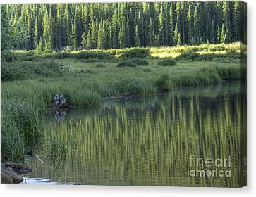 A Study In Green Canvas Print by David Bearden