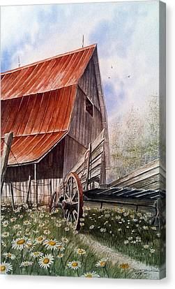 A Time For Daiseys Canvas Print by Don F  Bradford