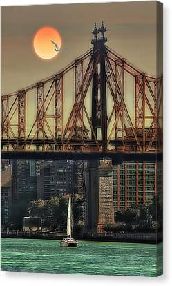 A Trip Under The Bridge Canvas Print by Tom York Images
