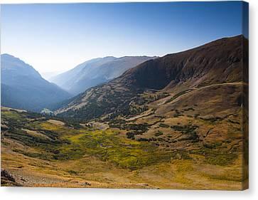 A Tundra Valley In The Colorado Rockies Canvas Print by Ellie Teramoto