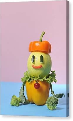 A Vegetable Doll Canvas Print by Yagi Studio