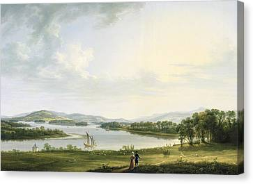 A View Of Knock Ninney And Part Of Lough Erne From Bellisle - County Fermanagh  Canvas Print by Thomas Roberts