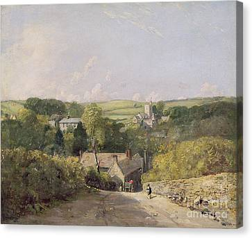 A View Of Osmington Village With The Church And Vicarage Canvas Print by John Constable