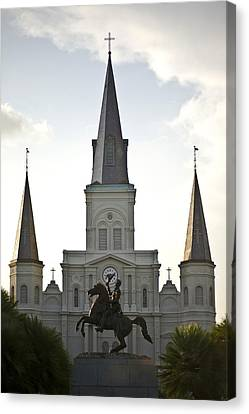 A View Of St Louis Cathedral Canvas Print by Hannele Lahti