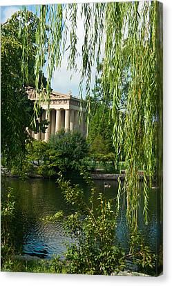 A View Of The Parthenon 9 Canvas Print by Douglas Barnett