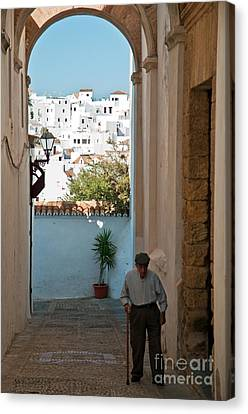 A Walk In Spain Canvas Print by Jim Chamberlain