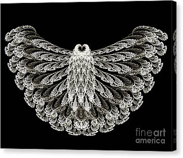 A Wise Old Owl Canvas Print by Andee Design