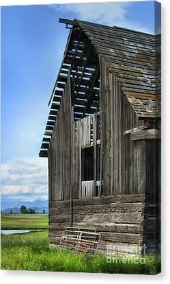 Abandoned Montana Barn Canvas Print by Sandra Bronstein