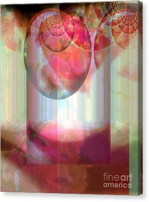 Abandoned Rose - Not Seperate From Illusion Canvas Print by Fania Simon