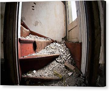 Abandoned Stairs Canvas Print by Cale Best