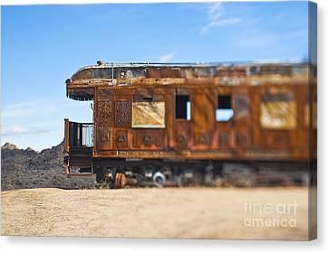 Abandoned Train Car Canvas Print by Eddy Joaquim