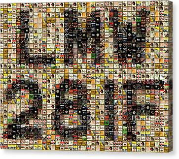 Abbey Road License Plate Mosaic Canvas Print by Paul Van Scott