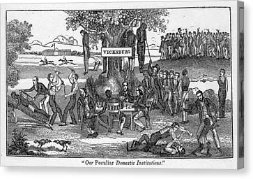 Abolitionist Cartoon Entitled, Our Canvas Print by Everett