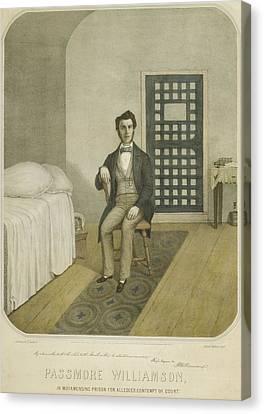 Abolitionist Passmore Williamson Canvas Print by Everett