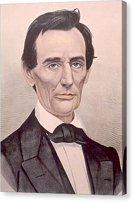 Abraham Lincoln 1808-1865, U.s Canvas Print by Everett