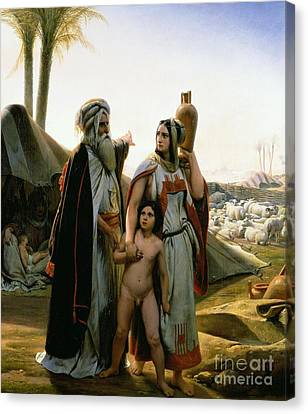 Abraham Turning Away Hagar Canvas Print by Emile Jean Horace Vernet