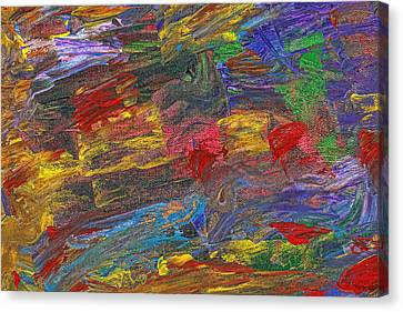 Abstract - Acrylic - Anger Joy Stability Canvas Print by Mike Savad