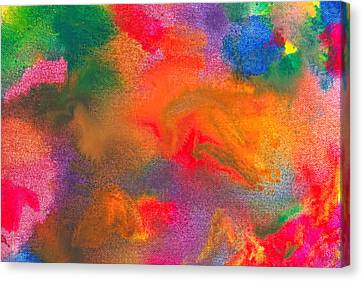 Abstract - Crayon - Melody Canvas Print by Mike Savad