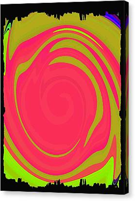 Abstract Color Merge Canvas Print by Will Borden