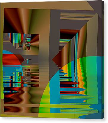 Abstract Colors Canvas Print by Mario Carini