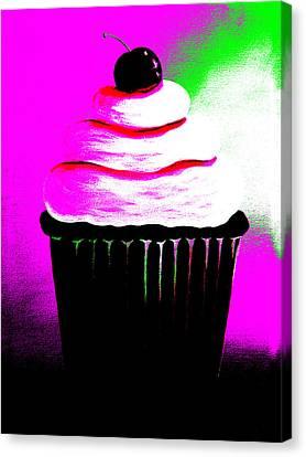 Abstract Cupcakes By Shawna Erback Canvas Print by Shawna Erback