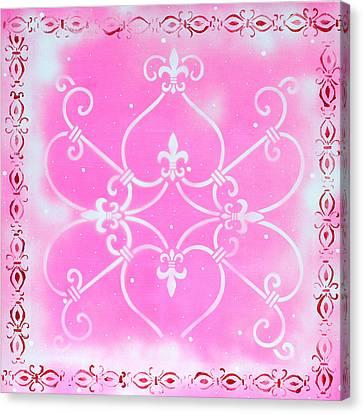 Abstract Decorative Art Original Painting Pink Fantasy By Madart Canvas Print by Megan Duncanson