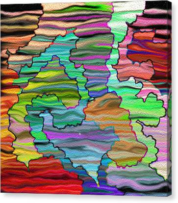 Abstract Emotions  Canvas Print by Gina Lee Manley