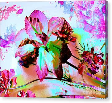 Abstract Flower Number Five Canvas Print by Doris Wood