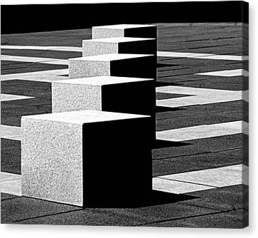 Abstract In Black And White Canvas Print by Tam Graff