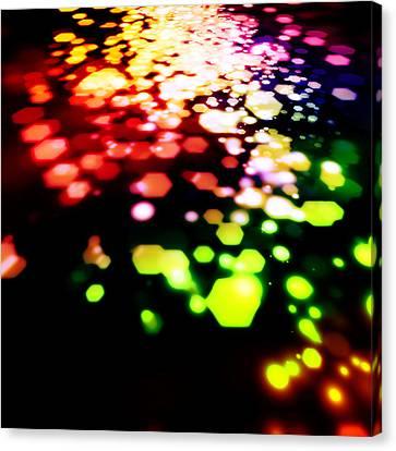 Abstract Of Hexagon Shape Blur Background Canvas Print by Setsiri Silapasuwanchai