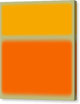 Abstract Orange And Yellow Canvas Print by Naxart Studio