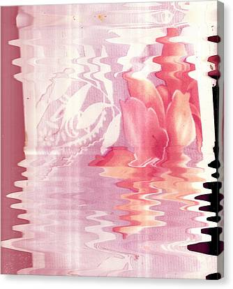 Abstract Vase With Floral Designs Canvas Print by Anne-Elizabeth Whiteway