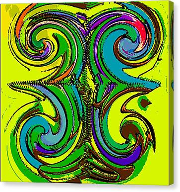 Abstracto Del Lunes 2 Canvas Print by Rod Saavedra-Ferrere