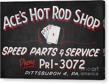 Ace's Hot Rod Shop Canvas Print by Clarence Holmes